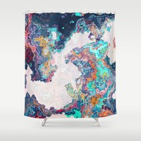 Abstract Marble Shower Curtain by tmarchev