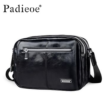 New Fashion PU Leather Men Crossbody Bags High Quality Men Leather Messenger Shoulder Bags Casual Men Bags for Ipad
