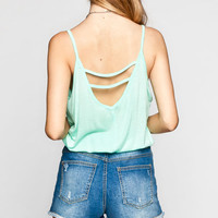 Chloe K Surplus Womens Cinch Tank Mint  In Sizes