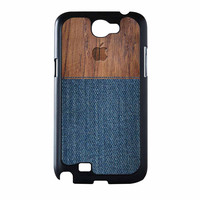 Wood Faux Denim Case Samsung Galaxy Note 2 Case