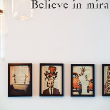 Believe in miracles Style 18 Die Cut Vinyl Decal Sticker Removable