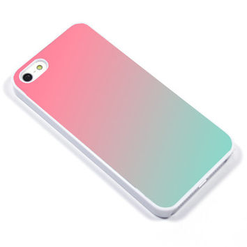 iPhone Case iPhone 5 iPhone 5s iPhone 5C iphone 4 Samsung Galaxy S3 S4 - Ombre pink mint - p2001