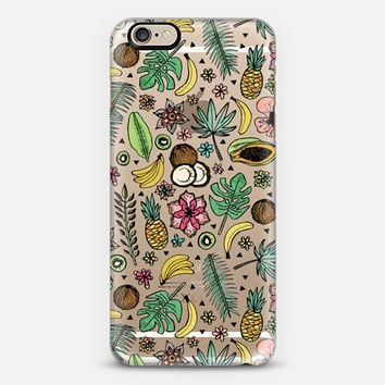Tropical Fiesta on Clear iPhone 6 case by Tangerine- Tane | Casetify