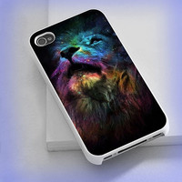 Cover phone case Lion King on Nebula for iPhone 4/4s, iPhone 5/5s/5c, iPod 4/5, Samsung Galaxy s3/s4