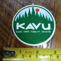 KAVU Clothing Pants STICKER Decal NEW CIRCLE Trees