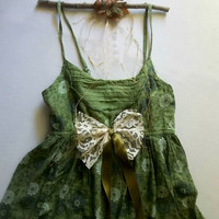 Poision Ivy Mori Girl Woodland Shabby Bohemian Peasant  Costume. Rustic Wedding Romance Bridesmaid . XS