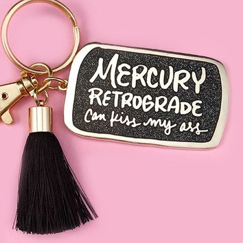 Mercury Retrograde Keychain
