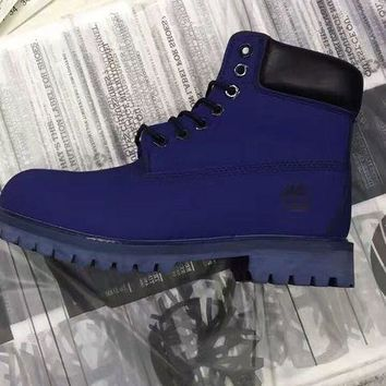 Timberland Rhubarb Boots 10061 Blue For Women Men Shoes Waterproof Martin Boots