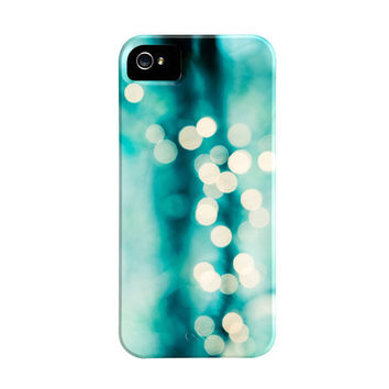 Abstract iPhone Case - 5, 4s, 4 teal aqua turquoise bokeh lights sparkle sparkly iphone 5 cases cute iphone 4 4s cover cell phone