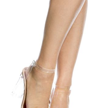 Nude Transparent Chunky Wrap Around Vinyl Heels @ Cicihot Heel Shoes online store sales:Stiletto Heel Shoes,High Heel Pumps,Womens High Heel Shoes,Prom Shoes,Summer Shoes,Spring Shoes,Spool Heel,Womens Dress Shoes