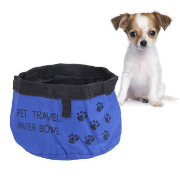 New Practical Pet Dog Cat Collapsible Foldable Travel Camping Food Water Feeder Bowl Dish ASLT