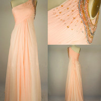 A Line Strapless Sweetheart Long Chiffon Prom Dresses