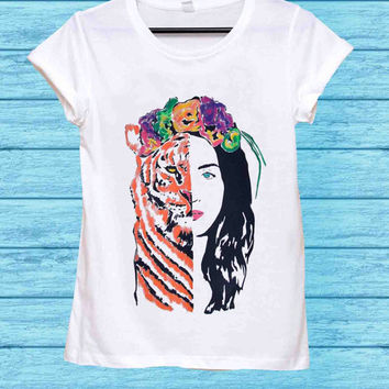 Katy Perry - ROAR Eye Of The Tiger for t shirt mens and t shirt girls