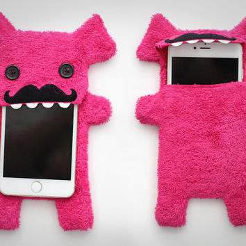 Fluffy Cellphone Case for iPhone 6 Plus - Mustache