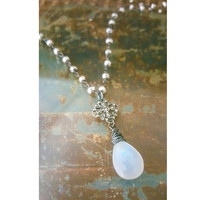 Silver Moonstone Necklace, Silver Moonstone Pendant Necklace, Moonstone Necklace, Silver Moonstone Pendant, Moonstone Pendant