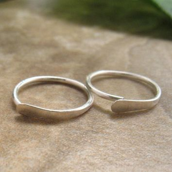 Hoop Earrings Flat Sterling Silver Piercing/Lobe/Cartilage/Helix/Tragus/Rook/Daith/Mens