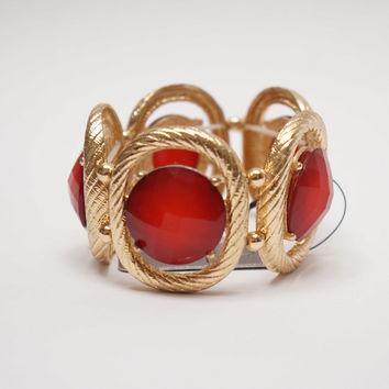 Be Jewel-ous Elastic Bracelet Red Ed.