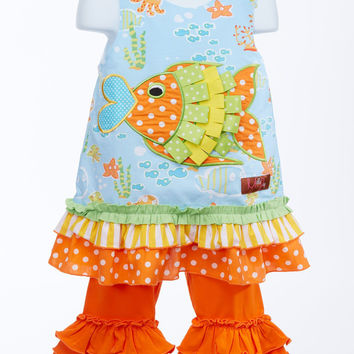 Millie Jay Scrumptiously Appliquéd A-line Toddler Tunic with Ruffled Leggings