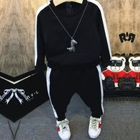 Fashion Boys Winter Clothes Set Sports Suit Casual Toddler Clothing 2Pcs T shirt+Pants Boy Tracksuit