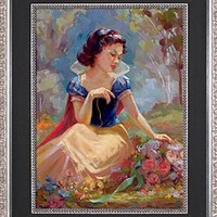 Limited Edition Disney Storytellers ''Gathering Flowers'' Snow White Giclée on Canvas | Disney Store