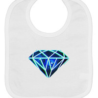 Space Diamond Baby Bib
