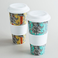 Paisley Floral Non-Paper Cups, Set of 2 | World Market