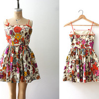 vintage playsuit / 50s vintage playsuit / by nocarnations on Etsy