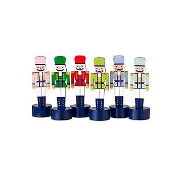 Miniature Nutcracker Decorations (Set/6)