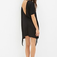 Cutout-Back Fringed Dress