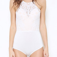 Persuade Me Bodysuit - White - FINAL SALE