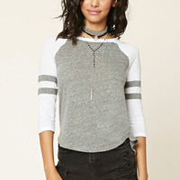 Slub Knit Baseball Tee