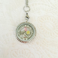 Daughter you are my sunshine memory locket stainless steel with chain