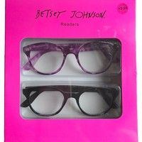 Betsey Johnson Purple & Black Fashion Reading Glasses 2 Pack