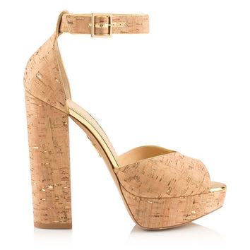 Eugenie VC in Natural/Gold - Sandals | Charlotte Olympia