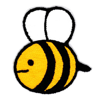 Cute Chenille Bumble Bee Patch 10.5cm