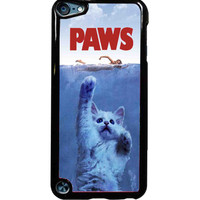 Paws Jaws Movie Funny Cats Parody Unique Cat Attack For iPod Touch 5 Case *ST*