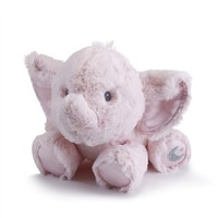 Baby Safe 11 Inch Pink Plush Elephant by Nat and Jules