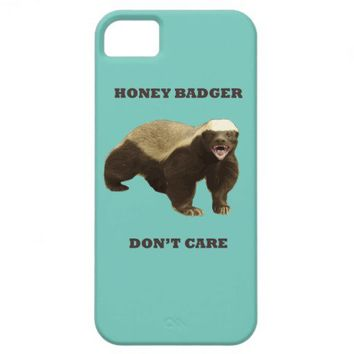 Cockatoo Mint Honey Badger Don't Care Pattern iPhone 5 Case