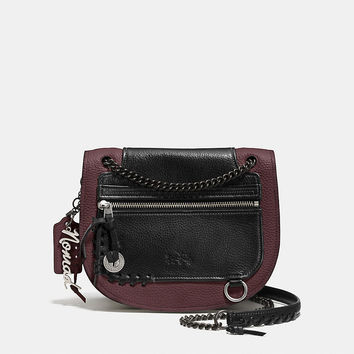 Biker Rip and Repair Shadow Crossbody in Leather