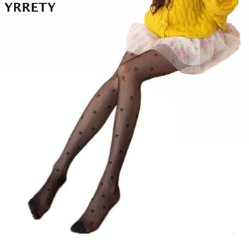 YRRETY Women's Summer Sexy Casual Classic Polka Silk Stockings Thin Lady Vintage Faux Tattoo Stockings Pantyhose Female Hosiery
