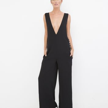 THE LOVE HER JUMPSUIT - BLACK