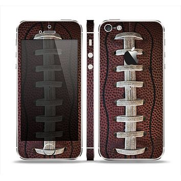 The Football Laced Skin Set for the Apple iPhone 5