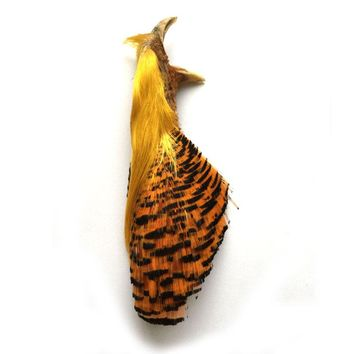 Natural Complete Golden Pheasant Head and Crest Fly Fishing Fly Tying Feather Material