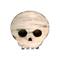 Rustic Wooden Skull (Pictured In Ivory) Kids Room Art Wooden Wall Sign Shabby Chic Photo Props Wooden Art Halloween wedding guest book