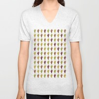 Cactus 2 design, Vector Unisex V-Neck by Claude Gariepy