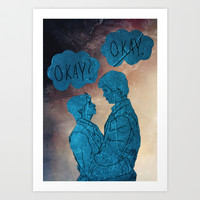 The Fault in Our Stars-Hazel and Augustus Art Print by Anthony Londer