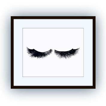 Eye lash art, minimalist decal, Printable vanity Wall decor,woman face decals, print, girl, makeup beauty, mascara lashes decoration, sleep