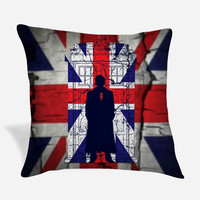 Tardis Union Jack David Tennant Pillow Case