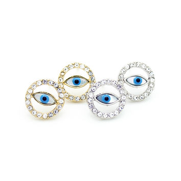 Evil eye crystal earrings