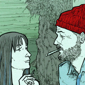 Eleanor and Steve Zissou Bill Murray